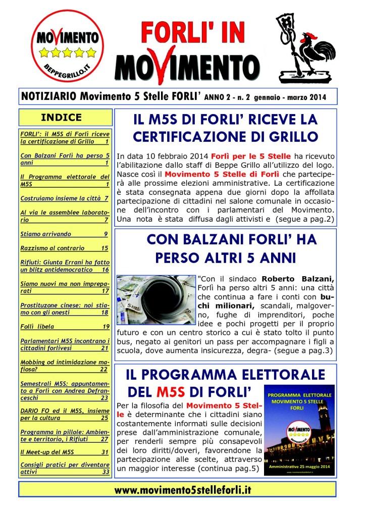 2 Notiziario M5S FORLI Anno 2 n.2 febbraio - maggio 2014