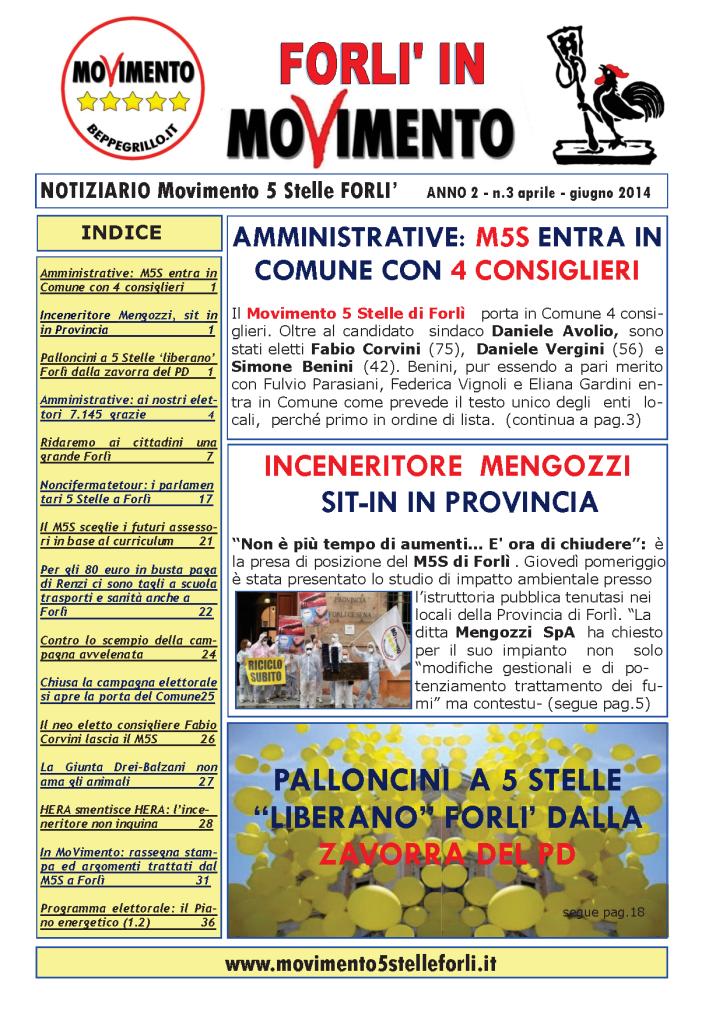 3 Notiziario M5S FORLI Anno II n.3 aprile - giugno 2014-1