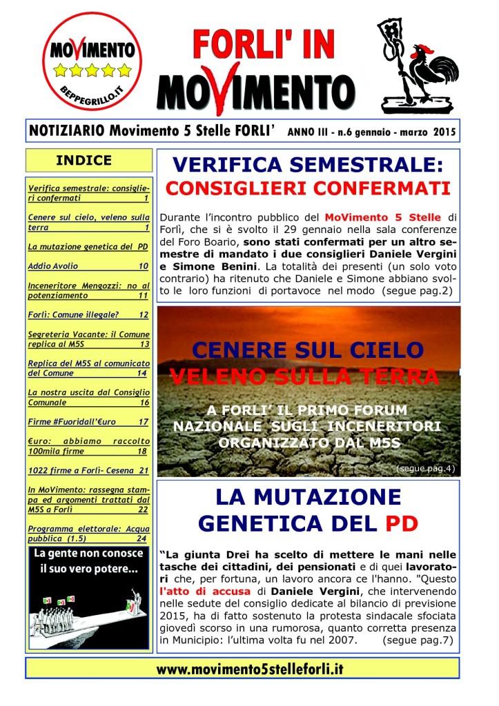 6 Notiziario M5S FORLI gennaio- marzo 20151