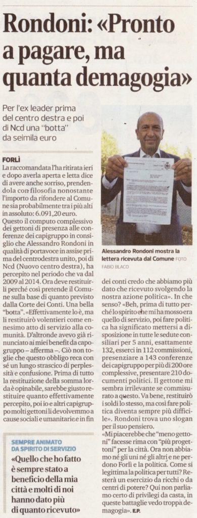 2017-09-06 - corriere - rondoni pronto a pagare ma quanta demagogia
