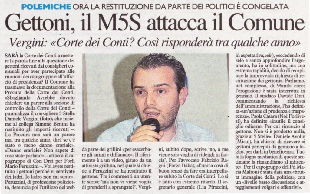 2017-10-11 - corriere - gettoni il M5S attacca il comune