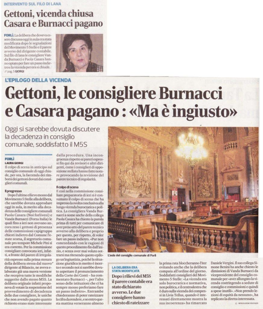 2018-03-13 - corriere - gettoni le consigliere Burnacci e Casara pagano ma è ingiusto