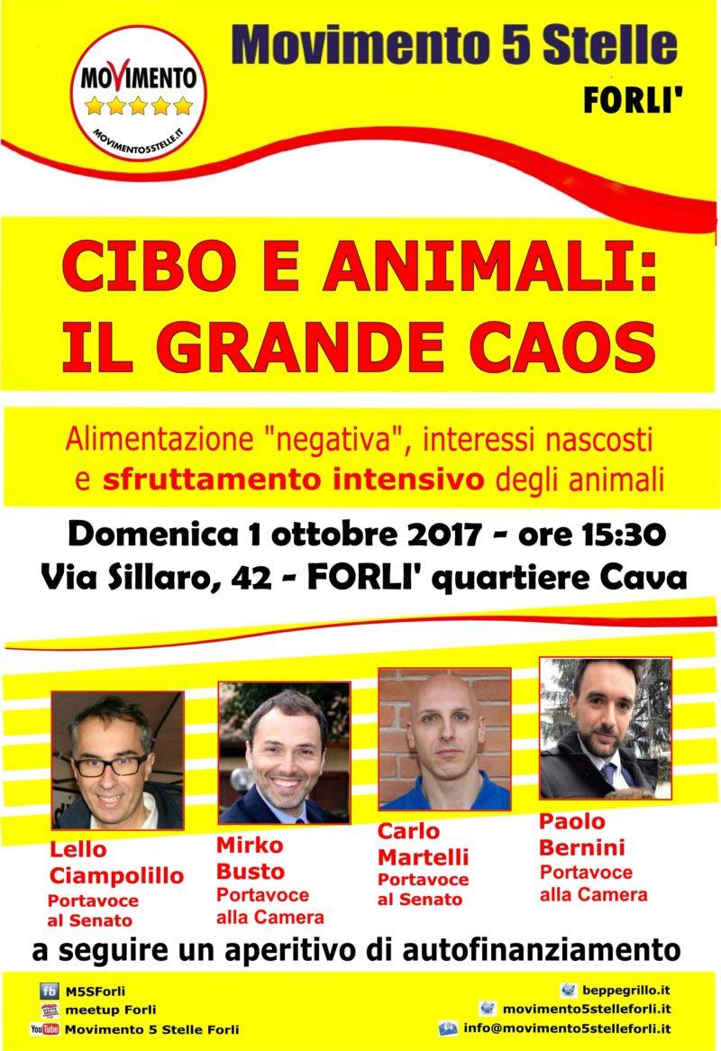 Cibo e animali il grande caos evento pubblico con 4 for Parlamentari 5 stelle elenco