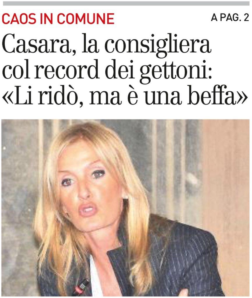2017-09-09 - carlino - Casara, la consigliera col record di gettoni Li ridó ma é una beffa