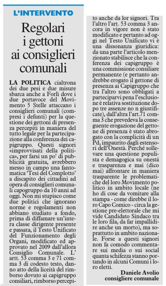 2017-09-26 - carlino - regolari i gettoni ai consiglieri comunali