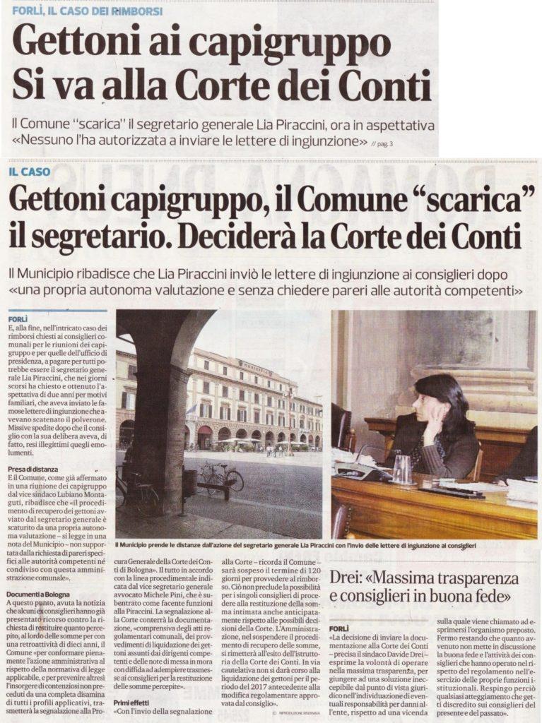 2017-10-10 - corriere - gettoni capigruppo il comune scarica il segretario deciderà la corte dei conti
